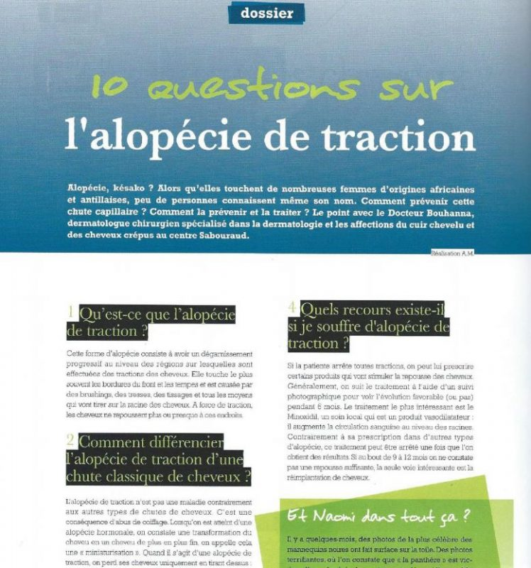 10 questions sur l'alopécie de traction